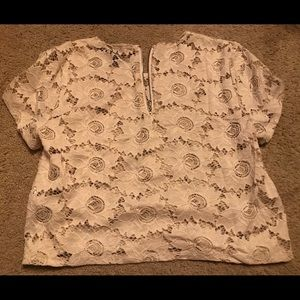 Forever 21 White lace top Sz S